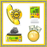 Icons are symbols of taxi Stock Photos