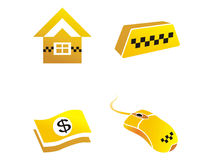 Icons are symbols of taxi Stock Photo