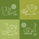 Icons and symbols tea Royalty Free Stock Photography
