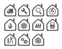 Icons of the Systems Engineering Royalty Free Stock Photography