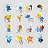 Icons for technology and interface Stock Images