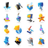 Icons for technology Stock Image