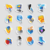 Icons for technology and interface Stock Photos