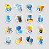 Icons for technology and interface Stock Photo