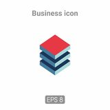 Icons template for business and infographics. Template icons for business and infographics is in 3 colors. Possible use in printing and web resources Stock Photos