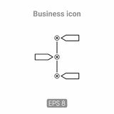 Icons template for business and infographics Stock Image