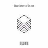 Icons template for business and infographics. Template icons for business and infographics, executed line. Possible to use in printing or web resources Royalty Free Stock Photo
