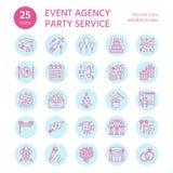 25-ICONS-template wydarzenia agencja ilustracja wektor
