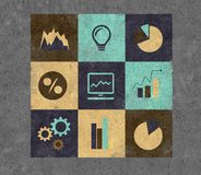 Icons on a theme business. Group of icons on a theme business Stock Photography