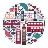Icons on a theme of England Royalty Free Stock Photo