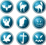 Icons. A theme of a Halloween. A vector illustration Stock Photo