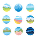 The icons on the theme of the nature Royalty Free Stock Images
