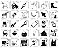 Icons theme purchase Stock Image
