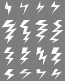Icons of thunder Royalty Free Stock Images