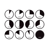 Icons of time intervals. vector on white Stock Photography