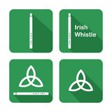 Icons with Tin Whistles Royalty Free Stock Photo