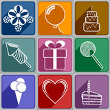 Icons to Birthday Royalty Free Stock Photo