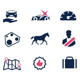 Icons to describe the car parameters Stock Images