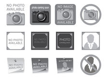 Icons to fill the seat of missing photos. Vector illustration Stock Photography