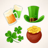 Icons to St. Patricks Day Stock Photos