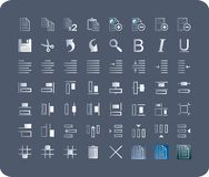 Icons for toolbar applications Royalty Free Stock Photos