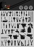 Icons of tools2 Stock Photo