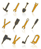 Icons of tools4 Stock Photography