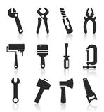 Icons of tools6 Stock Photography