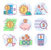 Icons on the topic of cryptocurrency