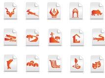 Icons tourism Royalty Free Stock Photo