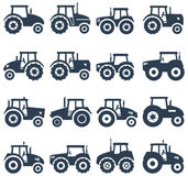 icons of a tractor, vector  Stock Photo