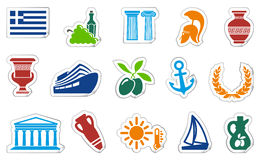 Greece stickers Stock Images