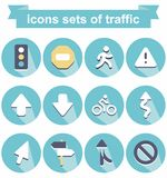 Icons of traffic Royalty Free Stock Images
