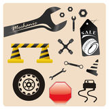 Icons for transit and repair Stock Images