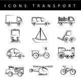 Icons transport Royalty Free Stock Photography