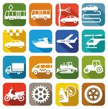 Icons transport Stock Images