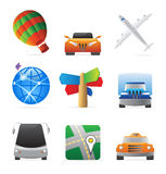 Icons for transportation Royalty Free Stock Photo