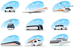 Icons Transportation Royalty Free Stock Photography