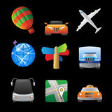 Icons for transportation Stock Photo