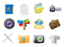 Icons for travel Royalty Free Stock Image