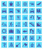 Icons, Travel (set1,part2) Royalty Free Stock Image