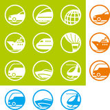 Icons travel, voyage, transpor Stock Photography