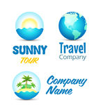 Icons for Travel Web Site Stock Photography