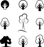 Icons of trees Stock Photo