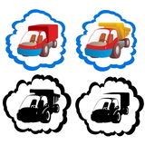 Icons trucks Stock Image