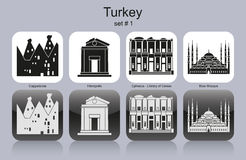 Icons of Turkey Royalty Free Stock Image
