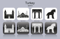 Icons of Turkey Royalty Free Stock Photography