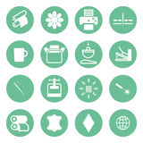 Icons types of printing, printing icon Royalty Free Stock Photography