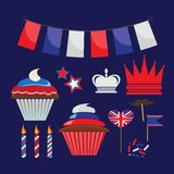 Icons for United Kingdom party Royalty Free Stock Image