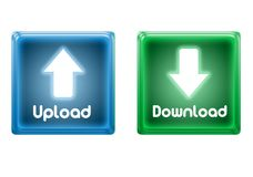 Icons upload and download Stock Photography